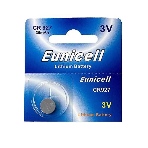Eunicell 1 x CR927 3V lithium knoopcel 30 mAh (1 blisterkaart van 1 batterij) EinWEG merkproduct
