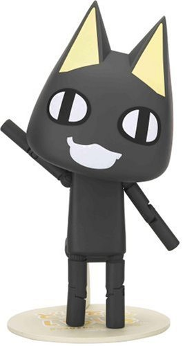 Revoltech Doko Demo Issyo Kuro Cat Black Version PVC Figure [Toy] (japan import)