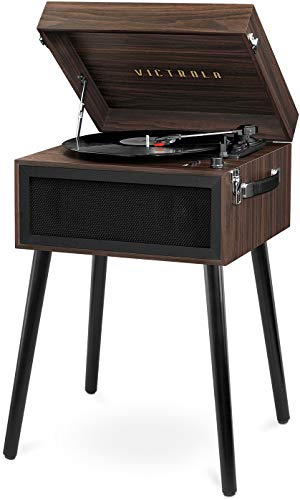 Victrola Bluetooth Record Player Stand with 3-Speed Turntable