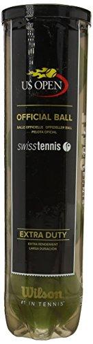 Wilson US Open Swiss 4 Ball Pelotas de Tenis, Unisex, Amarillo-Amarillo, 6