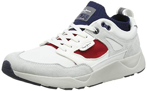 Pepe Jeans London Herren ORBITAL M25 03 Sneaker, Weiß (White 800), 43 EU