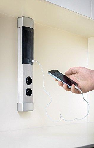 Naber Muzak - Columna de Altavoces con Enchufe (Bluetooth y USB)