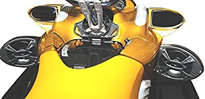 """Custom Powersport 5 1/4"""" Gloss Black Speaker Pods Pair Waves & Wheels REV-R New"""