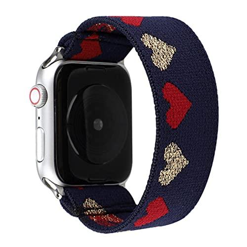 Correa elástica de un solo bucle para Apple Watch 40 mm 44 mm 38 mm 42 mm Pulsera de nailon para iwatch Series 6 SE 5 4 3 2 correa de reloj-K35, 38 o 40 mm