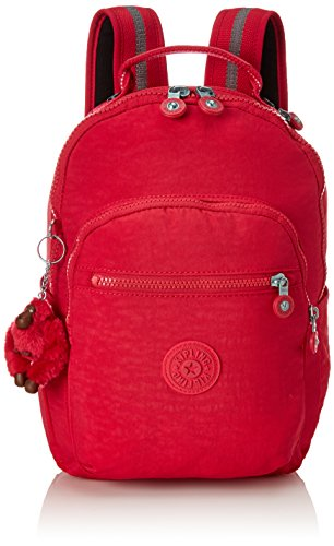 Kipling SEOUL GO S Mochila escolar, 35 cm, 8 litros, Rosa (True Pink)