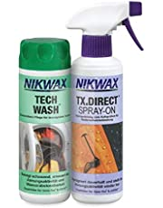 Nikwax Tech Wash+TX-Direct Spray, 30342000, kledingwasmiddel, 2 x 300 ml, transparant, one-size
