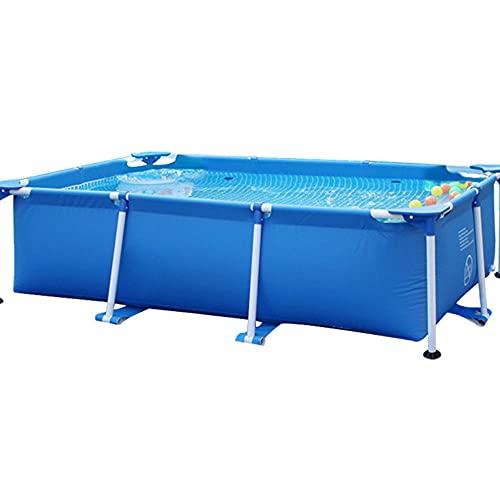 CMAO Piscina para Adultos para niños de Gran tamaño, Patio Trasero de la Familia Piscina Extra Grande, Reservorio Plegable-9.8 * 6.6 * 2.5 pies_Azul