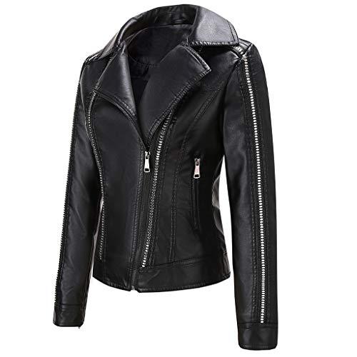 Cardigo Oversized Winter Coats for Women Warm Short Leather Fashion Jacket Parka Zipper Tops Overcoat Outwear Black
