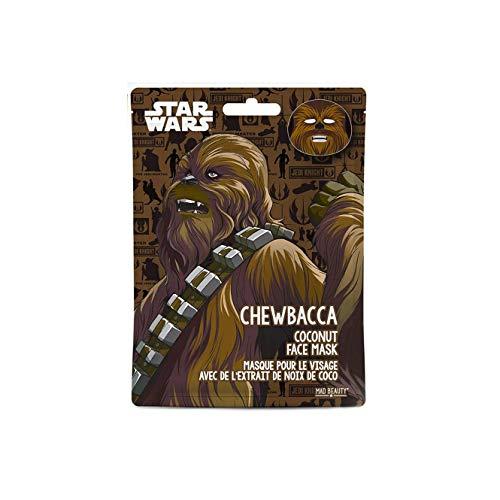 MAD Beauty Disney Gesichtsmaske Tuchmaske Star Wars Chewbacca - feuchtigkeitsspendende & erfrischende Tuchmaske für gepflegte Haut und einen schönen Teint, 30 g