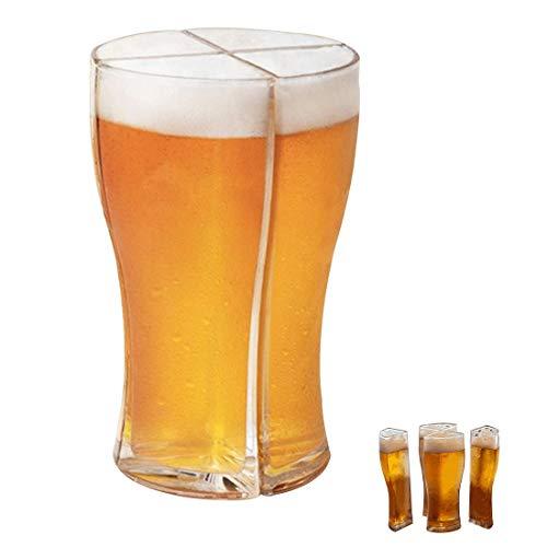 Vasos de Cerveza Super Schooner Cups Juego de Tazas de Cerveza 4...