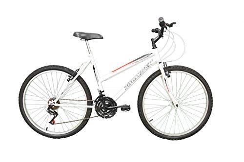 Bicicleta Aro 26 Thunder Branca 21v MTB Combate, Track Bikes