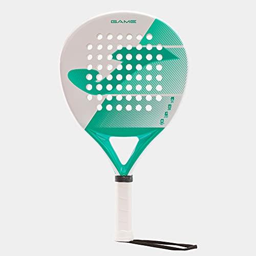 Joma - Racchetta Paddle Game Control - Fibra di Vetro - Nucleo Eva Soft - Bianco Turchese