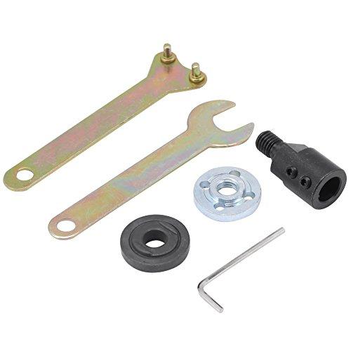 Akozon Motorwellenkupplung Verbindungsstange M10-5/8/10/12mm Hülse Sägeblatt Kupplung Sägefutter Adapter Electric Drill Angle Grinder Connecting Rod mit Schraubenschlüssel (12mm)