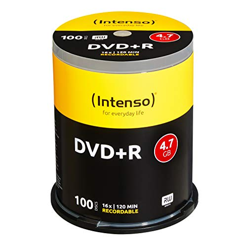Intenso 4111156 DVD + R 16 x Lot de 100 Cakebox