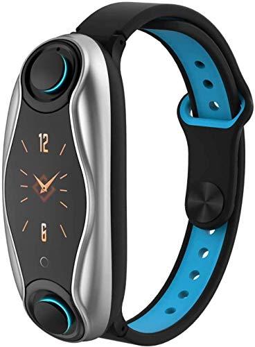 DHTOMC Reloj inteligente dual bluetooth auricular combinación 0.96 pulgadas pantalla de alta definición llamada recordatorio deportes bluetooth llamada pulsera