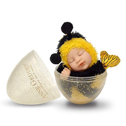 Anne Geddes 579310 Baby lalka pszczół w kolorze złotym błyszczące jajko / Bee 9 cali - Gold Glitter Egg Collection