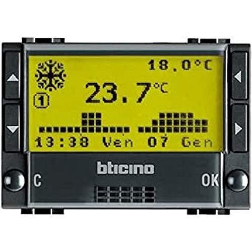 Bticino L4451 Livinglight Tech Cronotermostato Settimanale, Antracite