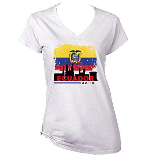 teesquare1st Quito Ecuador Camiseta para Mujer de Algodon