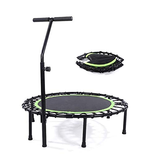 Trampolino pieghevole for adulti Indoor Fitness Rebounder Band regolazione manubrio Best Urban Cardio Jump Fitness Allenatore Allenatore Sistema di corde elastiche coperto Limite massimo 400 libbre