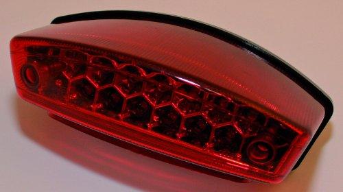 ShinYo LED Rücklicht Monster/Enduro/Chopper rotes Glas, Unisex, Multipurpose, Ganzjährig, Kunststoff
