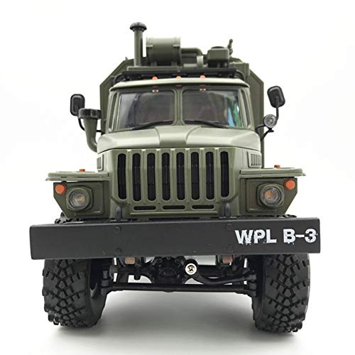 WPL B-36 RC Cars, Effulow 1/16 9-12 mph Off-Road Trucks, 2.4 GHz 6 WD Electric RC Military Truck with Non-Slip Large Tires Mechanical Drive Shaft, U.S.A. in Stock Fast Delivery (Army Green)