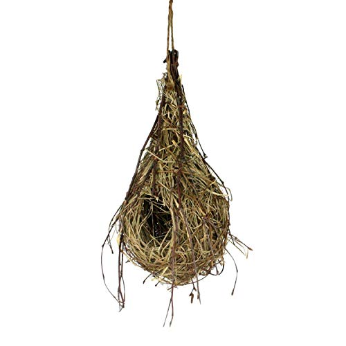 Natural Hanging Oriole Birds Nest, Straw