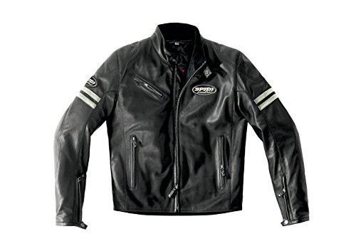 Spidi Leder Motorradjacke Ace, Ice/Schwarz, Größe 54