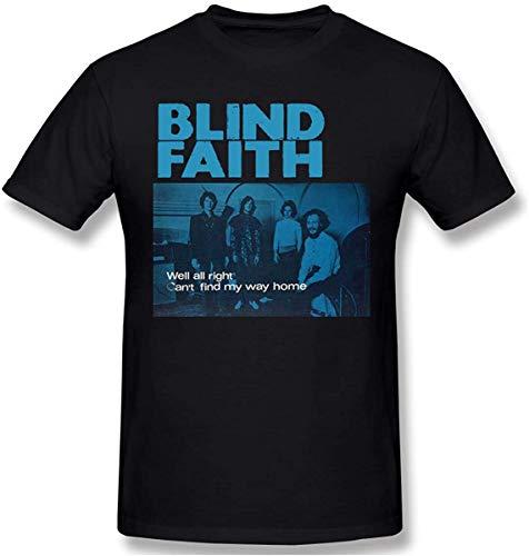 Men Cotton T-Shirts with Blind Faith Design Weekend Top,Black,XX-Large