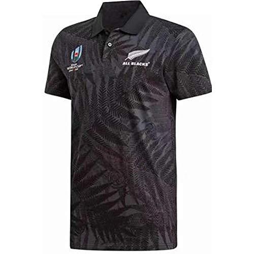 Rugby Jersey 2019 Giappone Coppa del Mondo di Coppa del Mondo Maglia Professionale Tecnica Manica Corta Uomo T-shirt Poliestere Ricamo Attrezzature Tifoso Il Miglior Regalo Nero  M