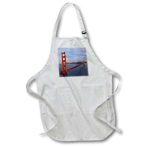 3dRose APR 88313_ 4Golden Gate Bridge, San Francisco, California-Chuck Haney-Full Länge Schürze mit Taschen, 22von 76,2cm, Schwarz
