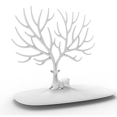 iTECHOR, supporto creativo per gioielli ad albero/cervo, espositore per collane, orecchini, bracciali, anelli ed altro