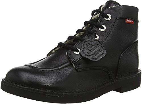 Kickers Unisex-Kinder Kickcol Fur Schlupfstiefel, Schwarz (Noir 8), 39 EU