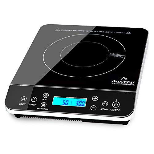 Duxtop Portable Induction Cooktop, Countertop Burner Induction Hot Plate with LCD Sensor Touch 1800...