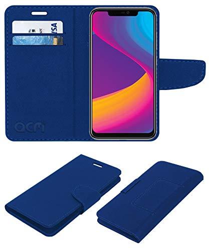 ACM Faux Leather Flip Cover for Panasonic Eluga X1 - Blue