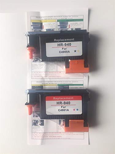 Piezas de impresora para HP 940 C4900A C4901A Cabezal de impresión apto para HP Pro 8000 A809a A809n A811a 8500 A909a A909n A909g 8500A A910a A910g A910n (color: C M)