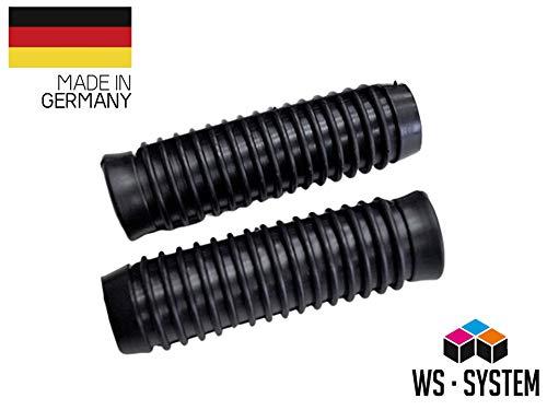 2 x Universal Schubkarrengriff | Griff | Schubkarre | Sackkarre | 25 mm Schwarz | Karrengriff