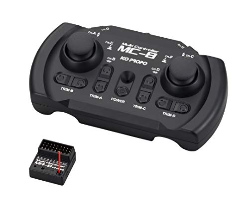 Carson KO 8 Kanal MC-8 MX-F TR Set 2,4GHz, Fernsteuerung mit Empfänger, RC Sender, Tamiya Kit kompatibel, Zubehör für ferngesteuertes Auto, 500501040