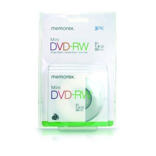Memorex 30 min./1.4 GB Mini DVD-RW (3-Pack)