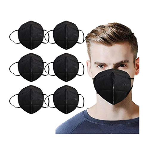 30Pcs Black Disposаble_𝙉𝟵𝟱_Mẵsk for Adults, 𝐌𝐚𝐬𝐤s for Coronàvịrụs Protectịon, Adult's 5-Ply Filtеr Cup Dust Safety Face_Mask