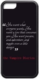 CASECOCO(TM) The Vampire Diaries Plastic TPU Case Cover Skin For iphone 5C