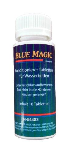 Blue Magic Konditionierer Tabletten 10-er Dose mit Sicherheitsverschluss - Für Wasserbett, Wasserkopfkissen, Wasserbett-Schlauchsysteme