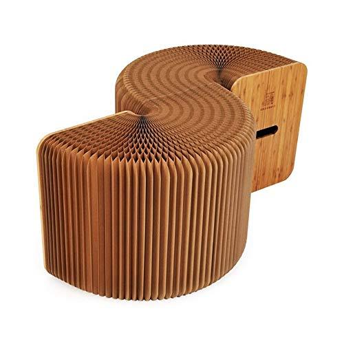 Xhtoe Kruk Vouwen Stretch Papier Kruk Organ Vouwen Kruk Kunst Milieubescherming Meubilair Individuele Kruk voor Kinderen of Volwassenen
