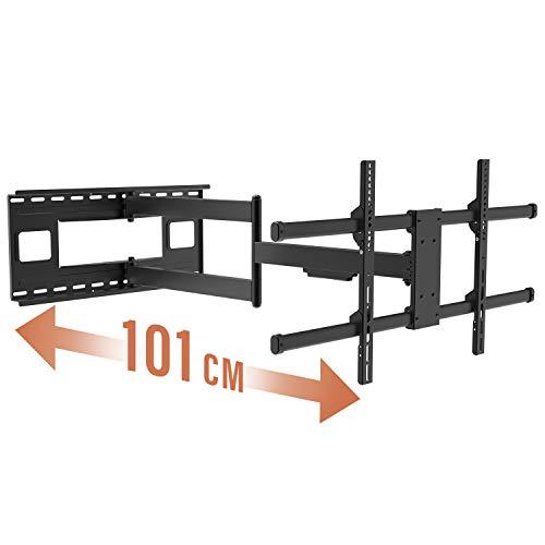 PUTORSEN® 101 cm Langer Arm TV Wandhalterung Schwenkbar Neigbar max.VESA 800x400mm für 43-80 Zoll Flach & Curved Fernseher oder Monitor bis zu 50kg