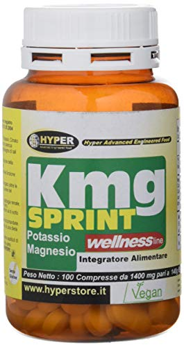 Hyper Integratore Alimentare di Magnesio e Potassio Energetico 100 compresse