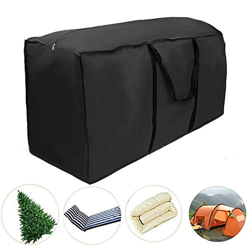 Garden Furniture Cushions Storage Bag Protective Cover Heavy Duty with Handle 210D Oxford Cloth for Furniture Sets Christmas Tree (173 x 76 x 51cm)