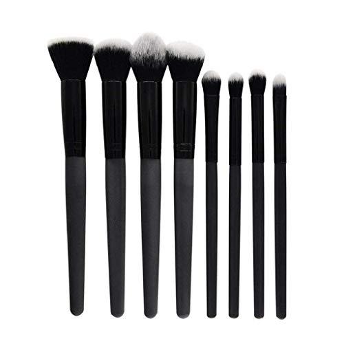 Scpink Make-up-Pinsel, Schminkpinsel, Kombination, Rot / Schwarz, Griff aus Kunststoff,...