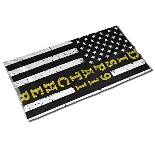 911 Dispatcher Thin Gold Line Flag Unisexe Outdoor Sport Scarf Bandeaux Bandana Cover Neck Guêtre Head Wrap Sweatband Headwear