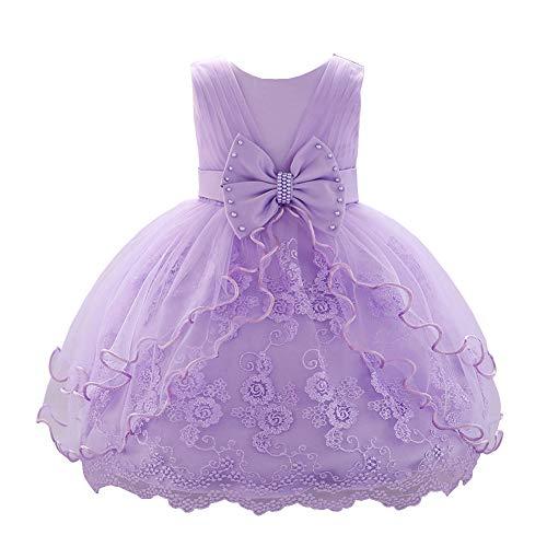 YFCH Vestido de Tul Princesa con Lazo para Bebé Niñas Vestido de...