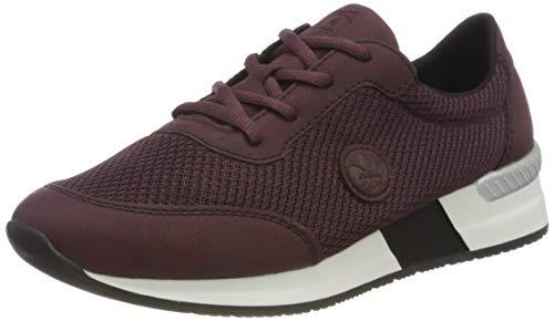 Rieker Damen N7630 Sneaker, Bordeaux/Beetroot 36, 37 EU