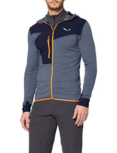 Salewa Herren PUEZ 2 Dry M L/S Hood FZ Tee Blusen & T-Shirts, Navy Blazer melange/4570, 56/3X